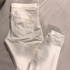 Denim - Express white skinny jeans